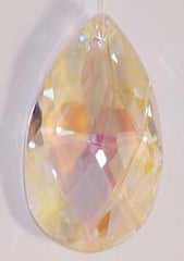 Faceted Almond 50mmAQ Lead Free Aurora Borealis - Crystals - Jules Enchanting Gifts