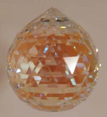 Double Faceted Ball 40mm Aurora Borealis - Crystals - Jules Enchanting Gifts