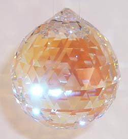Double Faceted Ball 30mm Aurora Borealis - Crystals - Jules Enchanting Gifts