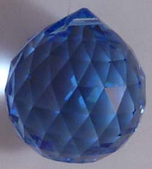Double Faceted Ball 40mm Sapphire - Crystals - Jules Enchanting Gifts