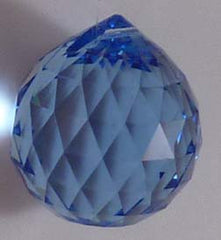 Double Faceted Ball 20mm Sapphire - Crystals - Jules Enchanting Gifts