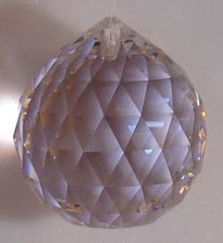 Double Faceted Ball 30mm Rosaline - Crystals - Jules Enchanting Gifts