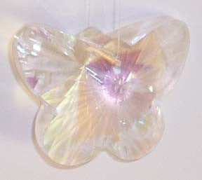 Beautiful Faceted Butterfly Aurora Borialis 28mm - Crystals - Jules Enchanting Gifts