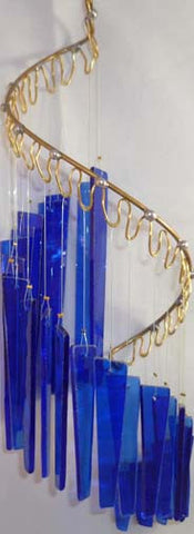 Light Opera Wind Chime - Blue Small - Winter Garden Gallery - Jules Enchanting Gifts