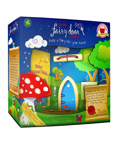 Blue Arched Irish Fairy Door - Irish Fairy Door Company - Jules Enchanting Gifts - 1