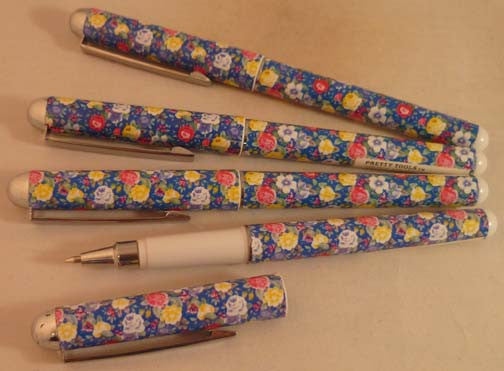 Pretty Tools Ball Point Pen - Blue Flowers - Fig Design - Jules Enchanting Gifts