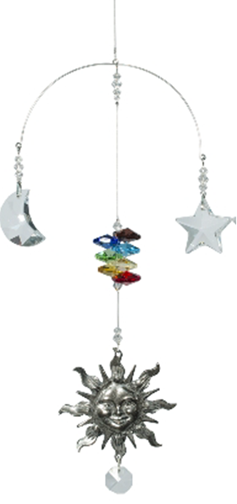 Sun, Moon and Star Clear or Chakra - Oh My Gosh Josh - Jules Enchanting Gifts
