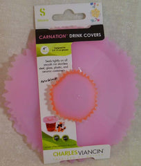 "Carnation Drink Covers 4"" Set of 2 - Charles Viancin - Jules Enchanting Gifts"
