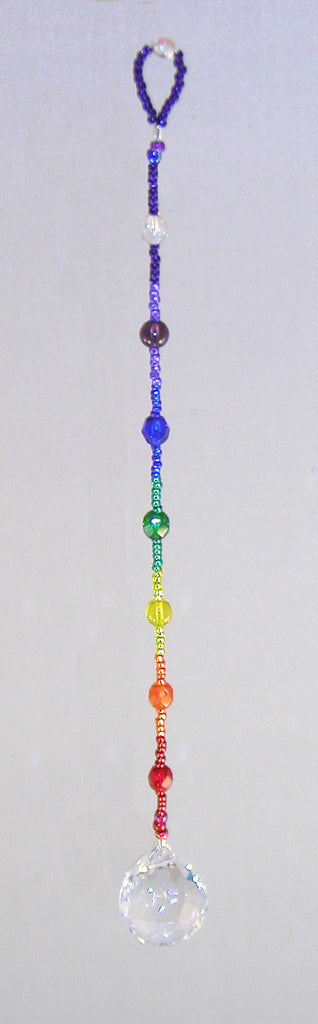 Sedona Lightcatcher Chakra - Clear 20mm crystal ball 9 inch - Oh My Gosh Josh - Jules Enchanting Gifts
