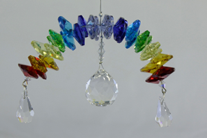 Crystal Rainbow Chakra with 30mm crystal ball - Oh My Gosh Josh - Jules Enchanting Gifts