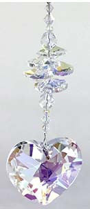 Crystal Cluster with 45mm AB Heart - Oh My Gosh Josh - Jules Enchanting Gifts