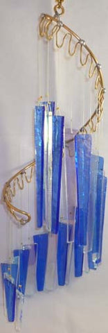 Light Opera Wind Chime - Crystal Blue Large - Winter Garden Gallery - Jules Enchanting Gifts