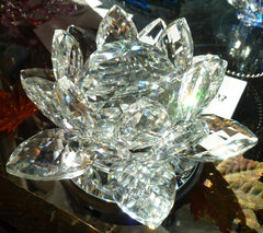 Extra-Large Crystal Lotus with 60mm Crystal Ball