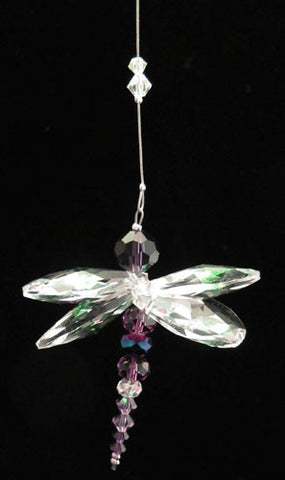 Crystal Dragonfly Purple - Oh My Gosh Josh - Jules Enchanting Gifts