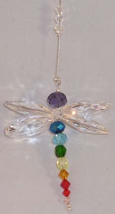 Crystal Dragonfly Rainbow Chakra - Oh My Gosh Josh - Jules Enchanting Gifts