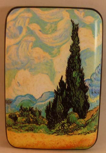 Wallet Fine Art #3 - Wheat Field with Cypresses - Fig Design - Jules Enchanting Gifts