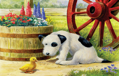 Puzzle - Pup and Friend 100 Pieces - SunsOut - Jules Enchanting Gifts