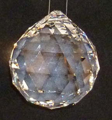 Faceted Ball - Lead Free 50mm Clear - Crystals - Jules Enchanting Gifts - 2