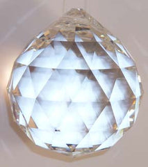 Faceted Ball - Lead Free 50mm Clear - Crystals - Jules Enchanting Gifts - 3