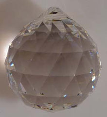 Faceted Ball - Lead Free 30mm Clear - Crystals - Jules Enchanting Gifts