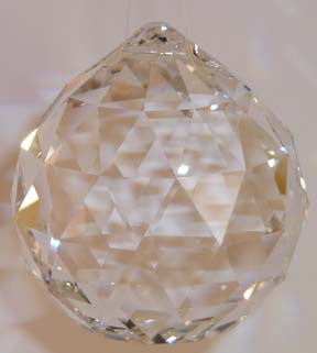 Faceted Ball - Lead Free 50mm Clear - Crystals - Jules Enchanting Gifts