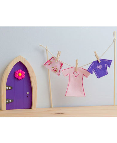 Irish Fairy Door Clothes Line & Female Fairy Clothes - Irish Fairy Door Company - Jules Enchanting Gifts
