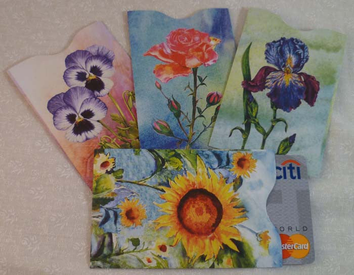 Wallet Sleeves - Flowers - Fig Design - Jules Enchanting Gifts