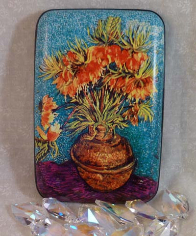 Wallet Fine Art Flowers - Fritillaries in a Copper Vase - Fig Design - Jules Enchanting Gifts
