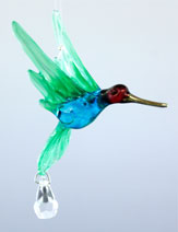Hummingbird with Crystal available in asst colors - Oh My Gosh Josh - Jules Enchanting Gifts