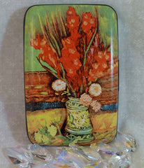 Wallet Fine Art Flowers - Vase with Red Gladioli - Fig Design - Jules Enchanting Gifts