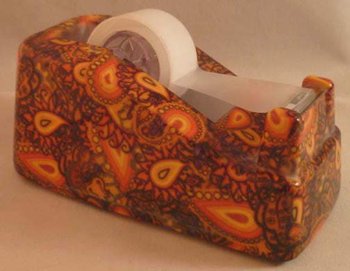 Pretty Tools Tape Dispenser - Gold Paisley - Fig Design - Jules Enchanting Gifts