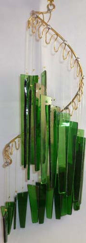 Light Opera Wind Chime - Green Small - Winter Garden Gallery - Jules Enchanting Gifts