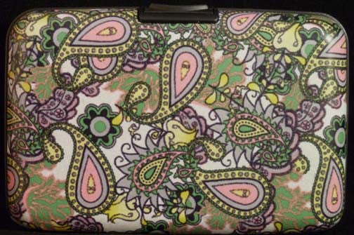 Wallet Paisley - Green - Fig Design - Jules Enchanting Gifts