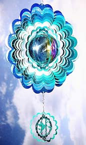 Eycatcher - Gazing Ball with Hummingbird Blue/Green - Next Innovations - Jules Enchanting Gifts