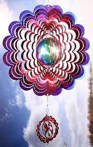 Eycatcher - Gazing Ball with Hummingbird Blue/Red - Next Innovations - Jules Enchanting Gifts