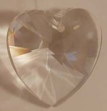 Faceted Heart Clear 40mm - Crystals - Jules Enchanting Gifts