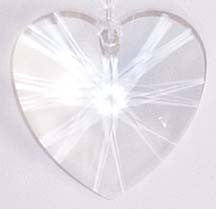 Faceted Heart Clear 28mm - Crystals - Jules Enchanting Gifts