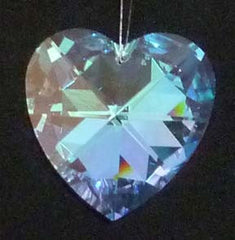 Faceted Heart 28mm Aurora Borealis - Crystals - Jules Enchanting Gifts