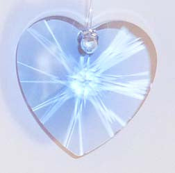 Faceted Heart 28mm Sapphire - Crystals - Jules Enchanting Gifts