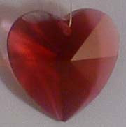Faceted Heart 20mm Bordeaux - Crystals - Jules Enchanting Gifts
