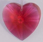 Faceted Heart 28mm Bordeaux - Crystals - Jules Enchanting Gifts