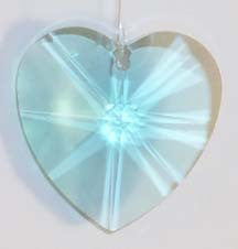Faceted Heart 40mm Green - Crystals - Jules Enchanting Gifts