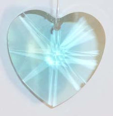 Faceted Heart 28mm Green - Crystals - Jules Enchanting Gifts