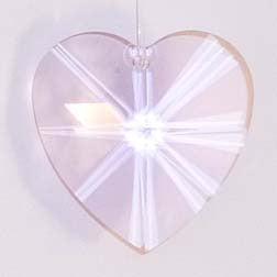 Faceted Heart 28mm Rosaline - Crystals - Jules Enchanting Gifts