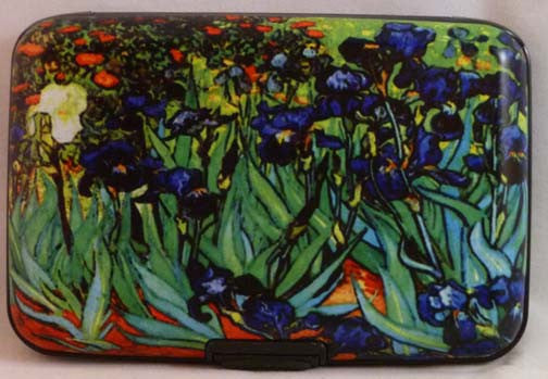 Wallet Fine Art - Irises - Fig Design - Jules Enchanting Gifts