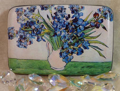 Wallet Fine Art Flowers - Vase of Irises - Fig Design - Jules Enchanting Gifts