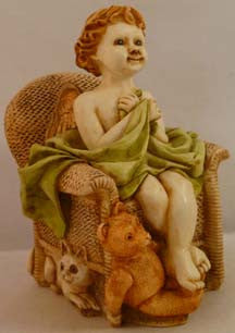 Joyeaux Tan Chair - Harmony Kingdom - Jules Enchanting Gifts