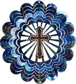 Eycatcher - Medium Cross Blue Kaleidoscope - Next Innovations - Jules Enchanting Gifts