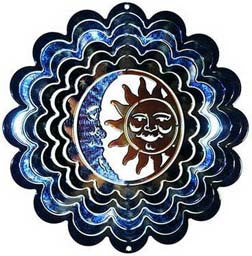 Eycatcher - Medium Sun/Moon Blue & Copper Kaleidoscope - Next Innovations - Jules Enchanting Gifts