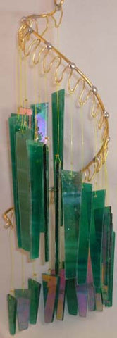 Light Opera Wind Chime - Malachite Medium - Winter Garden Gallery - Jules Enchanting Gifts - 1